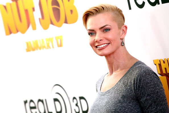 "Actress Jaime Pressly attends the premiere of Open Road Films&squot; ""The Nut Job"" held at the Regal Cinemas L.A. Live on January 11, 2014 in Los Angeles, California."