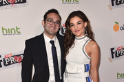 "Director/writer Benny Fine and actress Danielle Campbell attend the premiere Of Orchard And Fine Brothers Entertainment's ""F*&% The Prom"" at ArcLight Hollywood on November 29, 2017 in Hollywood, California."