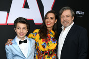 "(L-R) Gabriel Bateman, Aubrey Plaza and Mark Hamill arrive at the premiere of Orion Pictures and United Artists Releasing"" ""Child's Play"" at ArcLight Hollywood on June 19, 2019 in Hollywood, California."