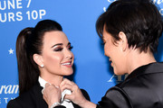 """Kyle Richards and Kris Jenner attend Premiere Of Paramount Network's """"American Woman"""" - Arrivals at Chateau Marmont on May 31, 2018 in Los Angeles, California."""