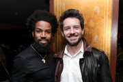 """Denim Richards (L) and Ian Bohen attend the premiere of Paramount Pictures' """"68 Whiskey""""  at Sunset Tower on January 14, 2020 in Los Angeles, California."""