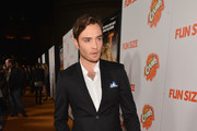 "Actor Ed Westwick arrives to the premiere of Paramount Pictures' ""Fun Size"" at Paramount Theater on the Paramount Studios lot on October 25, 2012 in Hollywood, California."