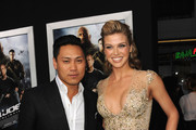 """Director Jon M. Chu and actress Adrianne Palicki attend the premiere of Paramount Pictures' """"G.I. Joe:Retaliation"""" at TCL Chinese Theatre on March 28, 2013 in Hollywood, California."""