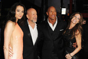 "(L-R) Emma Heming, actor Bruce Willis, Dwayne ?""The Rock""? Johnson and Lauren Hashian attend the premiere of Paramount Pictures' ""G.I. Joe:Retaliation"" at TCL Chinese Theatre on March 28, 2013 in Hollywood, California."