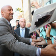 Dwayne Johnson Signs Autographs