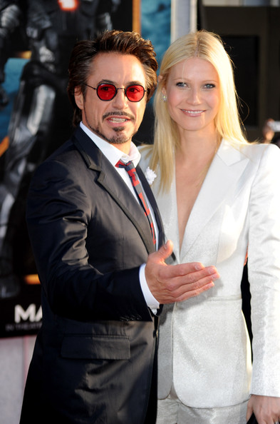 Actors Robert Downey Jr. and Gwyneth Paltrow arrive at the world premiere of Paramount Pictures and Marvel Entertainment's 'Iron Man 2 held at El Capitan Theatre on April 26, 2010 in Hollywood, California.