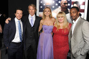 """(L-R) Actor Mark Wahlberg, director Michael Bay, actors Bar Paly, Rebel Wilson, and Anthony Mackie arrive at the premiere of Paramount Pictures'.""""Pain & Gain"""" at TCL Chinese Theatre on April 22, 2013 in Hollywood, California."""