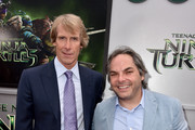 Producer Michael Bay (L) and Paramount Film Group President Adam Goodman attend the premiere of Paramount Pictures' 'Teenage Mutant Ninja Turtles' at Regency Village Theater on August 3, 2014 in Westwood, California.