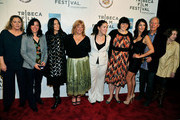 "(L-R) Rebecca Wackler, Kathleen Turner, Paula Goldberg, Anne Renton, Connie Cummings, Jennifer Dubin, Angelique Cabral,  Richard Chamberlain and Rebecca Wackler attend the premiere of ""The Perfect Family"" at the 2011 Tribeca Film Festival at BMCC Tribeca PAC on April 24, 2011 in New York City."