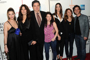 """(L-R) Actors Amanda Peet, Catherine Keener, Oliver Platt, Sarah Steele, Rebecca Hall, Nicole Holofcener and Thomas Ian Nicholas attend the premiere of """"Please Give"""" during the 2010 Tribeca Film Festival at the Tribeca Performing Arts Center on April 27, 2010 in New York City."""