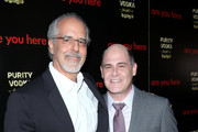 Filmmaker Jon Avnet and writer/director Matthew Weiner attend the premiere of 'Are You Here' at ArcLight Hollywood on August 18, 2014 in Hollywood, California.