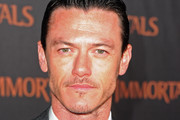 """Actor Luke Evans arrives at Relativity Media's """"Immortals"""" premiere presented in RealD 3 at Nokia Theatre L.A. Live at Nokia Theatre L.A. Live on November 7, 2011 in Los Angeles, California."""