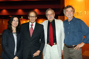 "(L-R) Margaret Bodde, director of The Film Foundation; Philip Berk, president of the Hollywood Foreign Press Association; Bob Gitt, UCLA film restorer and Director Curtis Hanson attend the premiere of the restored 1948 masterpiece ""The Red Shoes"" at the Directors Guild of America on July 29, 2009 in Los Angeles, California."