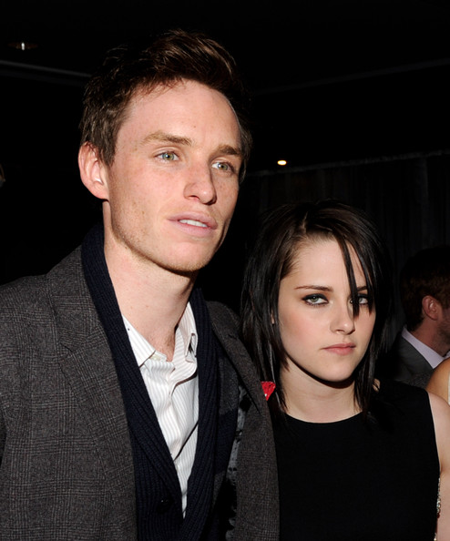 Actors Eddie Redmayne (L) and Kristen Stewart attend the premiere of Samuel Goldwyn Films'