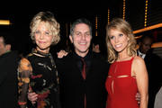 """Actress Meg Ryan, Andy Ostroy and director Cheryl Hines attend the afterparty for the premiere of """"Serious Moonlight"""" at Rouge Tomate on December 3, 2009 in New York City."""
