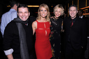 """Producer Michael Roiff, director Cheryl Hines, actress Meg Ryan and Andy Ostroy attend the afterparty for the premiere of """"Serious Moonlight"""" at Rouge Tomate on December 3, 2009 in New York City."""