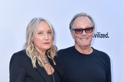 """Actor Peter Fonda and Margaret DeVogelaere attend the premiere of Sony Pictures Classics' """"Boundries"""" at American Cinematheque's Egyptian Theatre on June 19, 2018 in Hollywood, California."""