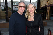 """Actor Peter Fonda (L) and his wife Parky DeVogelaere arrive at the premiere of Sony Pictures Classics' """"Boundaries"""" at the American Cinematheque's Egyptian Theatre on June 19, 2018 in Los Angeles, California."""