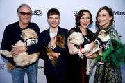 "(L-R) Actors Peter Fonda, Lewis MacDougall, Kristen Schaal, and Vera Farmiga arrive at the premiere of Sony Pictures Classics' ""Boundaries"" at the American Cinematheque's Egyptian Theatre on June 19, 2018 in Los Angeles, California."