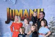 "Tori Spelling and family attend the premiere of Sony Pictures' ""Jumanji: The Next Level"" at TCL Chinese Theatre on December 09, 2019 in Hollywood, California."