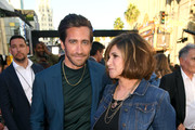 "Jake Gyllenhaal (L) and Amy Pascal attend the premiere of Sony Pictures' ""Spider-Man Far From Home"" at TCL Chinese Theatre on June 26, 2019 in Hollywood, California."