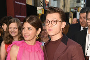 "Marisa Tomei (L) and Tom Holland attend the premiere of Sony Pictures' ""Spider-Man Far From Home"" at TCL Chinese Theatre on June 26, 2019 in Hollywood, California."