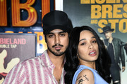 """Avan Jogia and Cleopatra Coleman attend the Premiere Of Sony Pictures' """"Zombieland Double Tap"""" at Regency Village Theatre on October 10, 2019 in Westwood, California."""