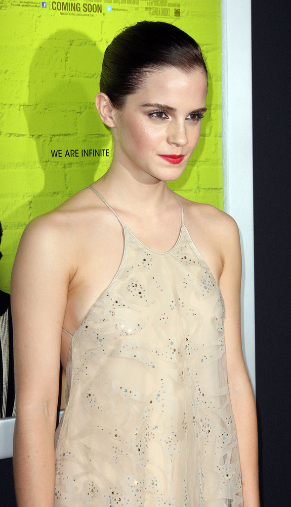 "Actress Emma Watson attends the Premiere Of Summit Entertainment&squot;s ""The Perks Of Being A Wallflower"" at the Arclight Cinerama Dome on September 10, 2012 in Hollywood, California."