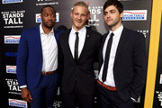 (L-R) Actors Ser'Darius Blain, Alexander Ludwig and Matthew Daddario attend the premiere of Tri Star Pictures' 'When The Game Stands Tall' at ArcLight Cinemas on August 4, 2014 in Hollywood, California.