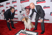 Jim Gianopulos, Chairman & CEO, Fox Filmed Entertainment and and Jeffrey Katzenberg, CEO, DreamWorks Animation, attend the premiere of Twentieth Century Fox and DreamWorks Animation's 'Mr. Peabody & Sherman' at Regency Village Theatre on March 5, 2014 in Westwood, California.