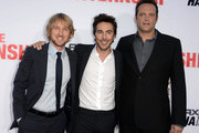"Actor Owen Wilson (L), director Shawn Levy, and Vince Vaughn. arrive at the premiere of Twentieth Century Fox's ""The Internship"" at Regency Village Theatre on May 29, 2013 in Westwood, California."