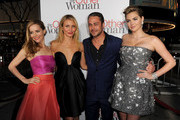 "(L-R) Actors Leslie Mann, Cameron Diaz, Taylor Kinney and Kate Upton attend the premiere of Twentieth Century Fox's ""The Other Woman"" at Regency Village Theatre on April 21, 2014 in Westwood, California."