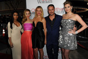 "(L-R) Recording artist Nicki Minaj, actors Leslie Mann, Cameron Diaz, Taylor Kinney and Kate Upton attend the premiere of Twentieth Century Fox's ""The Other Woman"" at Regency Village Theatre on April 21, 2014 in Westwood, California."