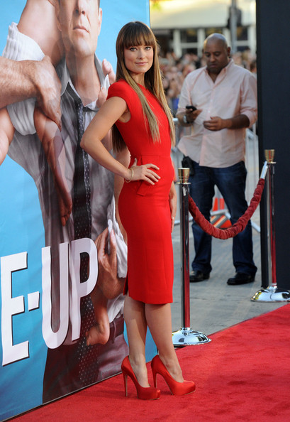 "Actress Olivia Wilde arrives at the premiere of Universal Pictures' ""The Change-Up"" held at the Regency Village Theatre on August 1, 2011 in Los Angeles, California."