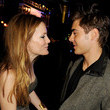 He gets goofy with Leslie Mann.