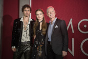 """Robert Sheehan, Hera Hilmar, and Stephen Lang arrive at the premiere Of Universal Pictures' """"Mortal Engines"""" at Regency Village Theatre on December 5, 2018 in Westwood, California."""