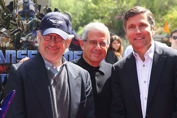"""Steven Spielberg Ron Meyer Premiere Of Universal Studios Hollywood's """"Transformers: The Ride-3D"""""""