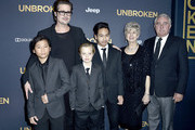 Actor Brad Pitt (C), (L-R) Pax Thien Jolie-Pitt, Shiloh Nouvel Jolie-Pitt,, Maddox Jolie-Pitt, Jane Pitt, and William Pitt attend the premiere of Universal Studios' 'Unbroken' at TCL Chinese Theatre on December 15, 2014 in Hollywood, California.