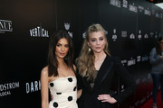 """Emily Ratajkowski and Natalie Dormer attend the premiere of Vertical Entertainment's """"In Darkness"""" at ArcLight Hollywood on May 23, 2018 in Hollywood, California."""