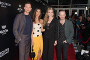 """Ed Skrein, Emily Ratajkowski, Natalie Dormer and Anthony Byrne attend the premiere of Vertical Entertainment's """"In Darkness"""" at ArcLight Hollywood on May 23, 2018 in Hollywood, California."""
