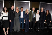 "(L-R) Graylen Eastwood, Stacy Poitras, Alison Eastwood, Scott Eastwood, Christina Sandera, Clint Eastwood, Maggie Johnson, Kyle Eastwood and Cynthia Ramirez pose at the premiere of Warner Bros. Pictures' ""The Mule"" at the Village Theatre on December 10, 2018 in Los Angeles, California."