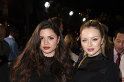 """Morgan Eastwood (L) and Francesca Fisher-Eastwood arrive at the premiere of Warner Bros. Pictures' """"The Mule"""" at the Village Theatre on December 10, 2018 in Los Angeles, California."""