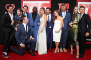 "Jeff Tomsic, Thomas Middleditch, Ed Helms, Jon Hamm, Hannibal Buress, Annabelle Wallis, Jake Johnson, Isla Fisher, Steve Berg, Jeremy Renner and Leslie Bibb attend the Premiere Of Warner Bros. Pictures And New Line Cinema's ""Tag"" at Regency Village Theatre on June 7, 2018 in Westwood, California."
