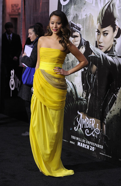 "Actress Jamie Chung arrives at the ""Sucker Punch"" Los Angeles premiere at Grauman's Chinese Theatre on March 23, 2011 in Hollywood, California."