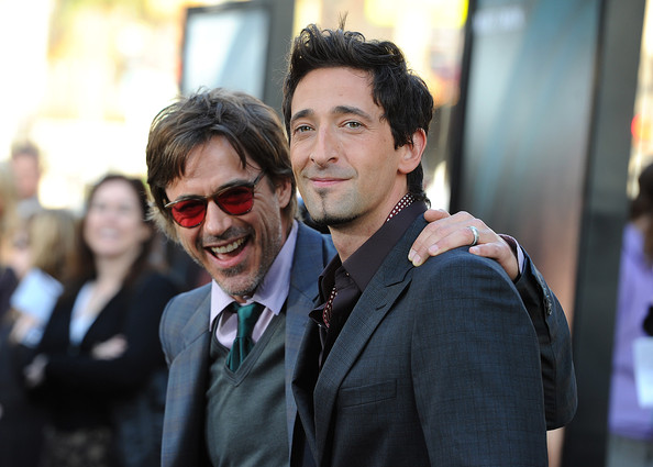 (L-R) Actors Robert Downey Jr. and