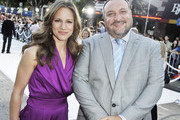"""Producers Susan Downey (L) and Joel Silver pose at the premiere of Warner Bros. Pictures' """"Whiteout"""" at the Village Theater on September 9, 2009 in Los Angeles, California."""