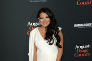 Actress Misty Upham arrives at the premiere of The Weinstein Company's 'August: Osage County' at Regal Cinemas L.A. Live on December 16, 2013 in Los Angeles, California.