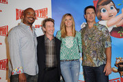 (L-R) Actors David Alan Grier, Martin Short, Heidi Klum and Patrick Warburton attend the HOODWINKED TOO! HOOD vs EVIL Premiere Hosted by Heidi Klum, Maurice Kanbar and Harvey Weinstein at the Pacific Theaters at The Grove on April 16, 2011 in Los Angeles, California.
