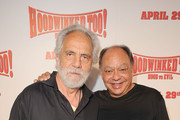 Actors Tommy Chong and Cheech Marin attend the HOODWINKED TOO! HOOD vs EVIL Premiere Hosted by Heidi Klum, Maurice Kanbar and Harvey Weinstein at the Pacific Theaters at The Grove on April 16, 2011 in Los Angeles, California.