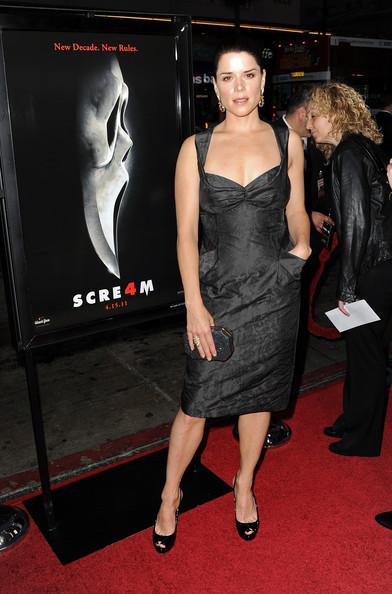 "Actress Neve Campbell arrives at the premiere of The Weinstein Company's ""Scream 4"" held at Grauman's Chinese Theatre on April 11, 2011 in Hollywood, California."